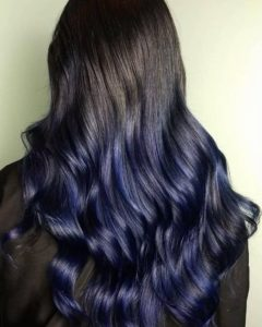 Ombre navy blue hair