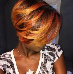 Orange zest sew in bob