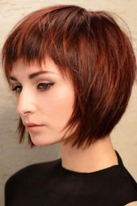 Modern Pageboy with Short Bangs
