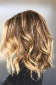 Ash Brown Hair with Golden Blonde Highlights