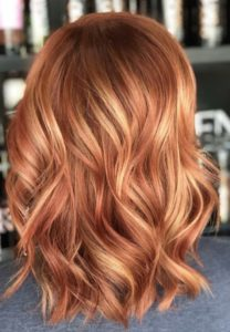 Copper Hair with Honey Blonde Highlights