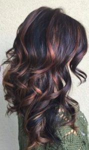 Partial Copper and Violet Highlights