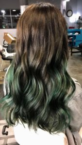 Forest Green Balayage
