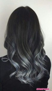 Silvery Grey Partial Highlights