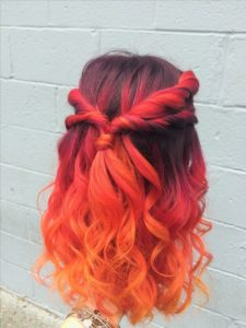 Red Orange balayage
