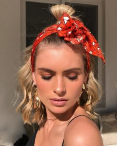 Headscarf and Tousled Waves