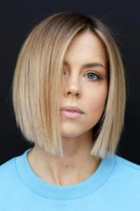 Blunt Bob with Side-Part