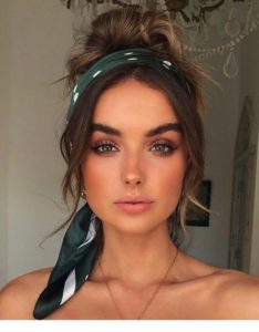 Top Knot with Headscarf