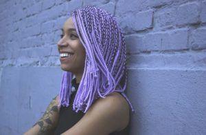 Violet femme medium box braid
