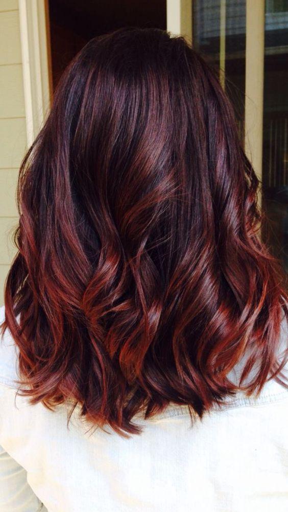 40 Awesome Balayage Red Hair Ideas