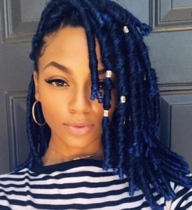 blue Faux Locs