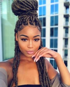 dark blonde faux locs