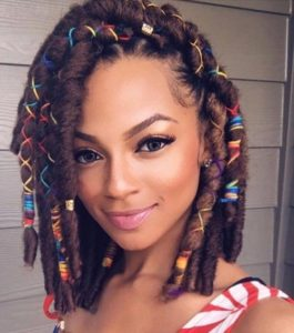faux locs with Criss Cross Guarder and Beads