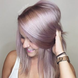 lilac on blonde hair