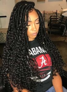 long curls Faux Locs Styles