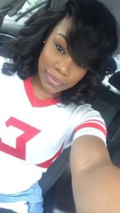 pin curls side bangs sew in