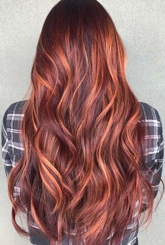 red balayage hair color ideas