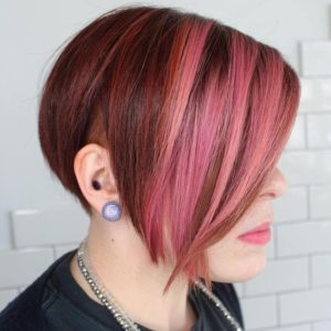 red balayage undercut