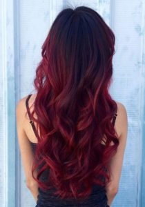 red wine balayage