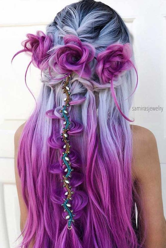 35 Blue And Purple Hair Color Ideas