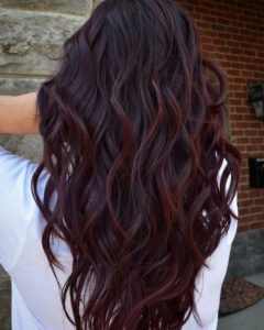 dark wine balayage