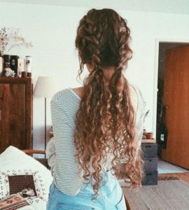 curly double braids