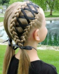 creative french braid