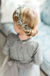 low bun with crown