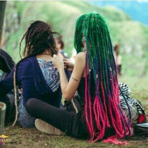colorful dreadlocks