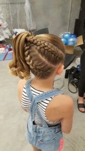 Dutch Braids and Side Ponytail