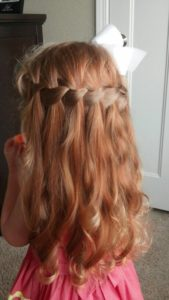 Lovely Waterfall Braid in Long Hair