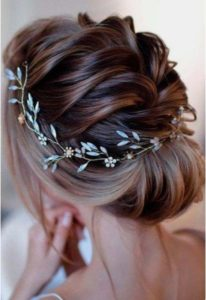 French Braid and Polished Chignon