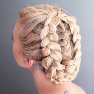 Intricate Braided Up-Do