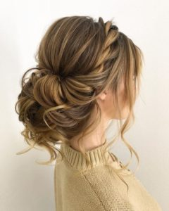 Subtle Rope Braid and Messy Chignon