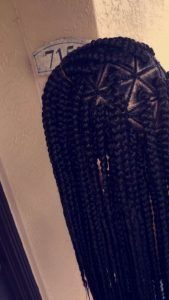 Braided part triangle box braids
