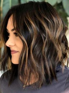 Dark Chocolate with Chestnut Balayage