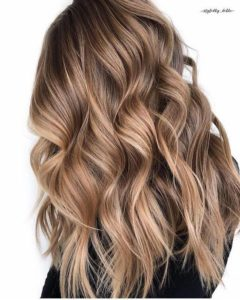 Golden Brown Hair with Caramel Balayage
