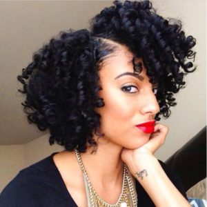 Deep black with baby hairs perm rod set