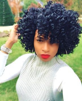 Defined curls short crochet
