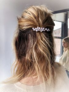 Classic Messy Up-Do With Barrette