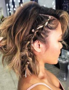 Ribbon Braid in Short Hair