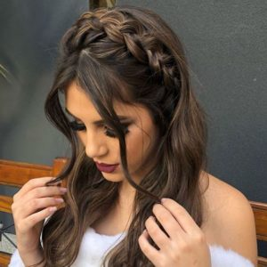 Braided Headband with loose Tendrils