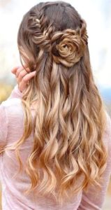 Fishtail Crown with Rose Braid
