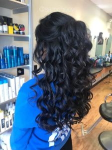 Half Up Style with Gorgeous Ringlet Curls