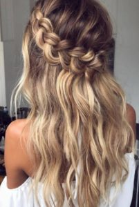 Relaxed Loop Waterfall Braid