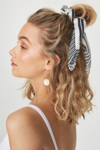 Retro Inspired Top Knot with Scarf