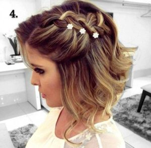 Simple Side Braid with Flower Accessories