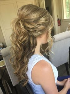 Bumped Up-Do with Voluminous Curls