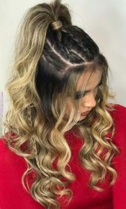 Youthful High Ponytail with Braids