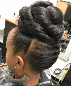 High Knotted Bun
